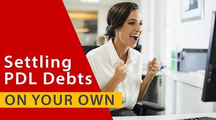 How can you settle payday loan debt on your own?
